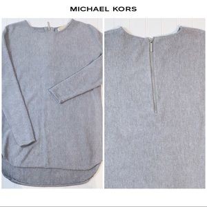 MICHAEL KORS Gray Sweater with zipper